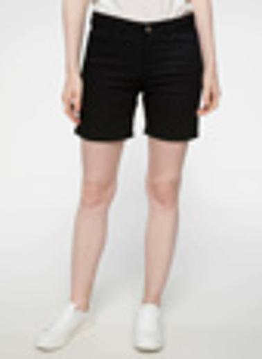 DeFacto Slim Fit Mini Şort Siyah